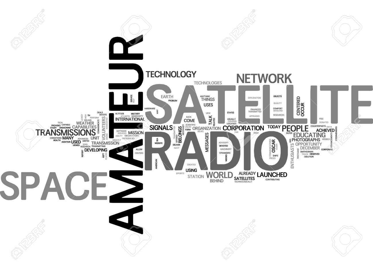 AMATEUR RADIO OPERATORS HEROES TEXT WORD CLOUD CONCEPT - 79498338