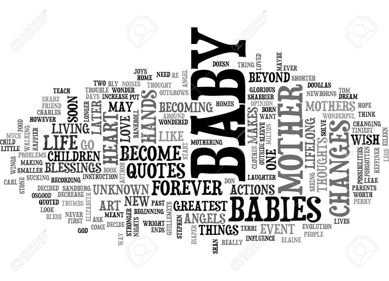Baby Quotes Text Word Cloud Concept Royalty Free Cliparts Vectors