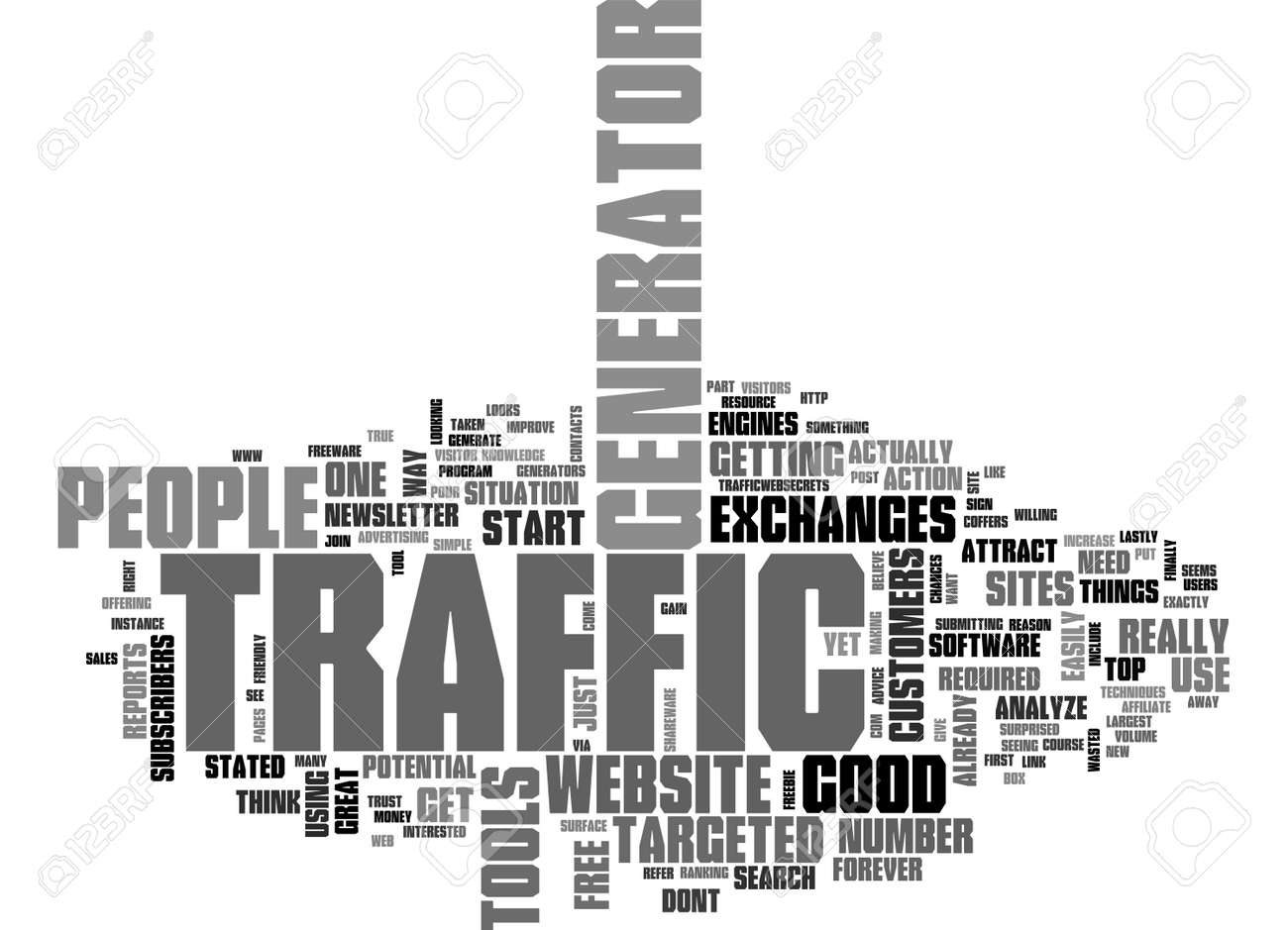 ARE YOU ON TRAFFIC GENERATOR TEXT WORD CLOUD CONCEPT