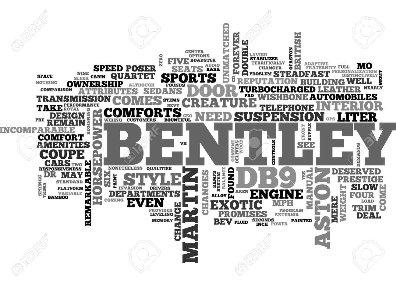 Bentley Versus Aston Text Word Cloud Concept Royalty Free Cliparts