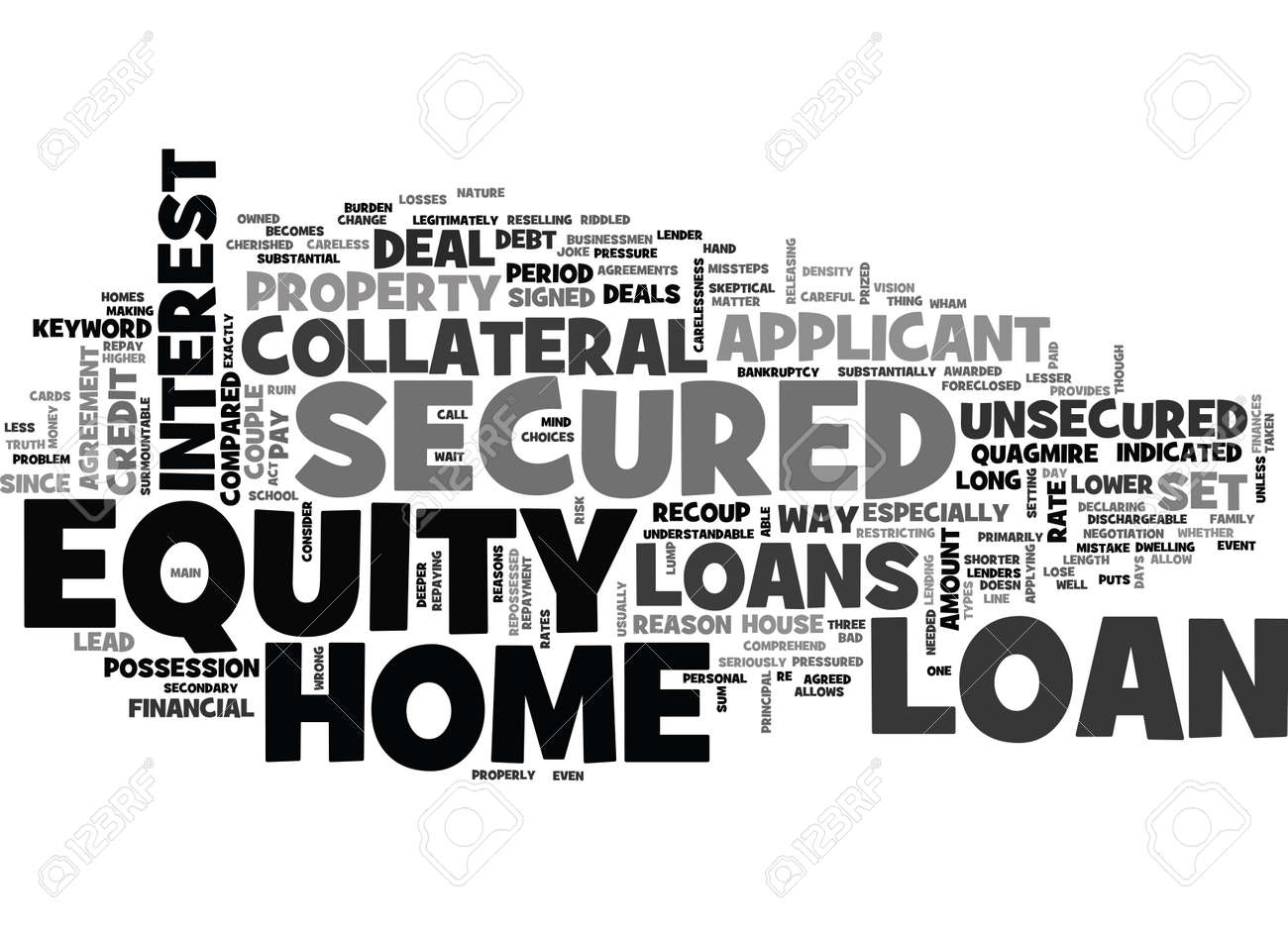Z SECURED HOME EQUITY LOAN TEXT WORD CLOUD CONCEPT Royalty Free ...