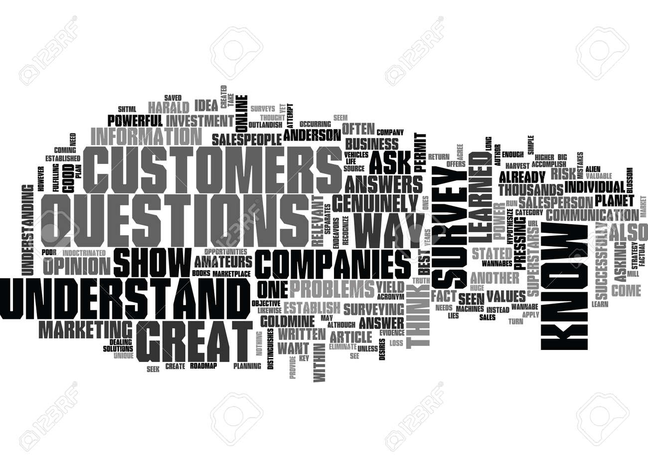 why great companies survey martian logic text word cloud concept stock  vector - 79581076