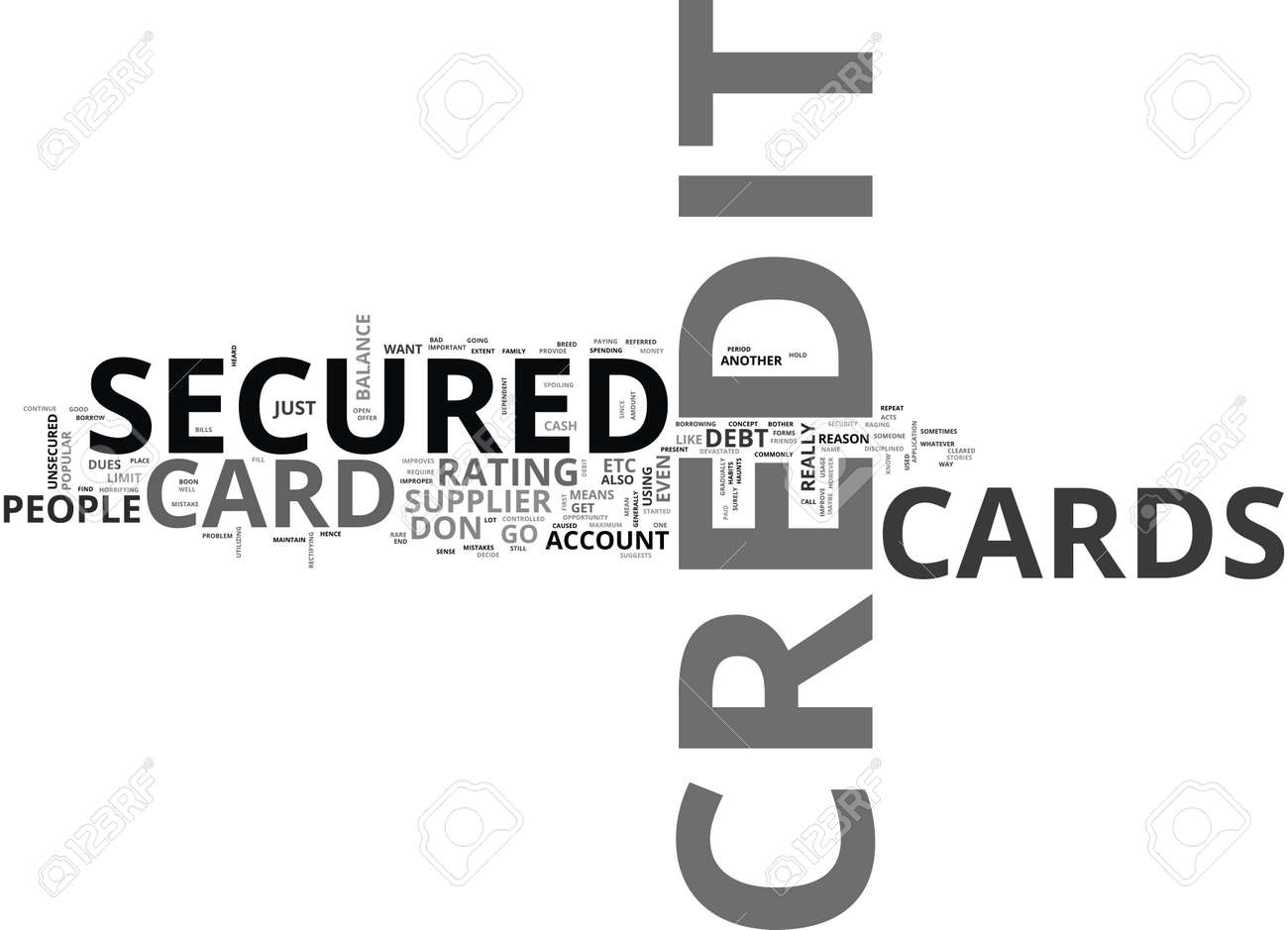 What do you mean by a secured credit card text word cloud concept what do you mean by a secured credit card text word cloud concept stock vector buycottarizona