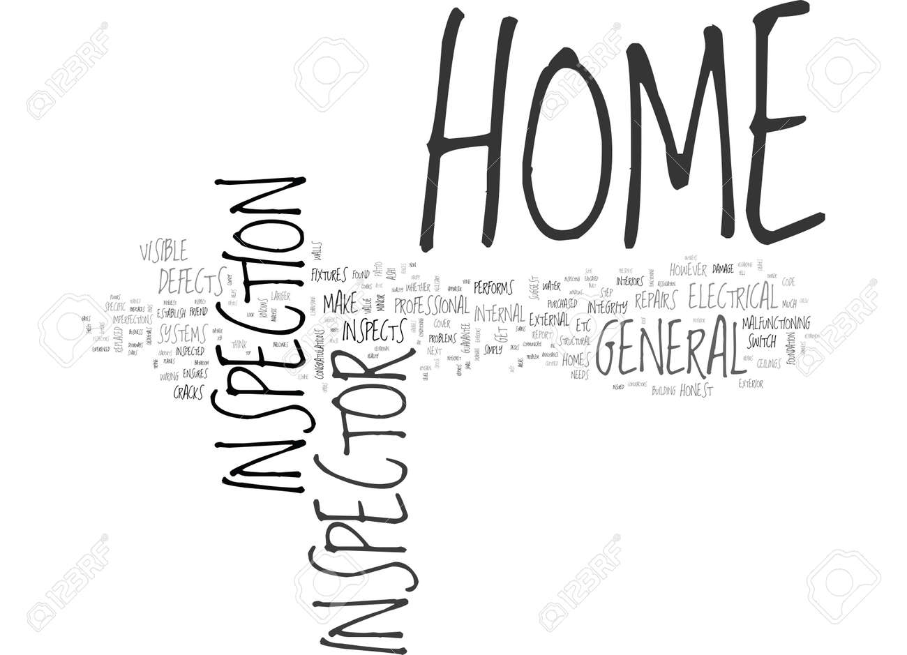 What Does A Home Inspector Do Custom What Does A Home Inspector Do Text  Word Cloud