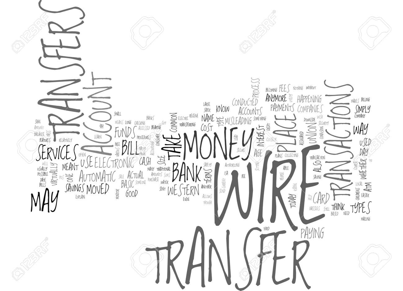 WHAT IS A BANK WIRE TRANSFER TEXT WORD CLOUD CONCEPT Royalty Free ...