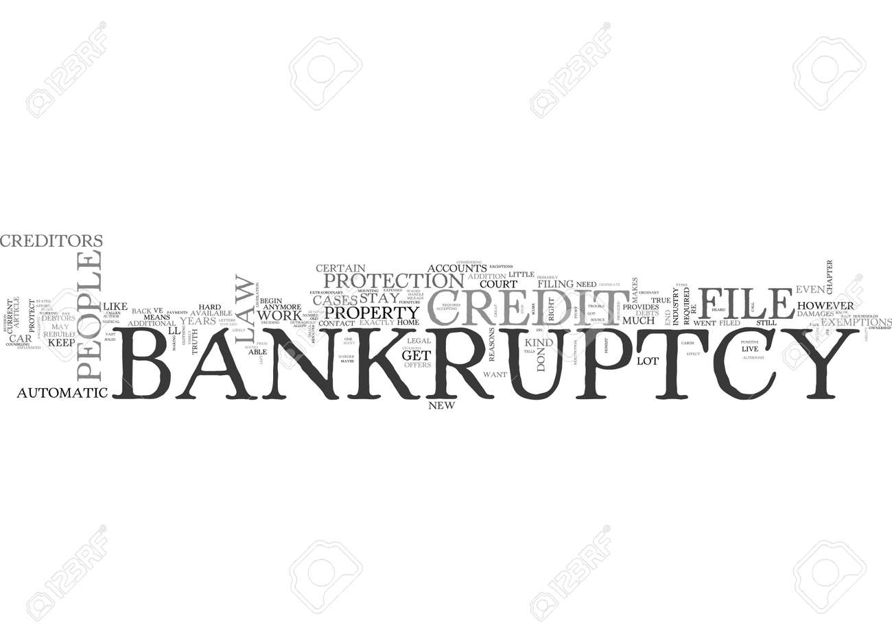 WHAT THE CREDIT INDUSTRY DOESN T WANT YOU TO KNOW ABOUT BANKRUPTCY TEXT WORD CLOUD CONCEPT - 79616066