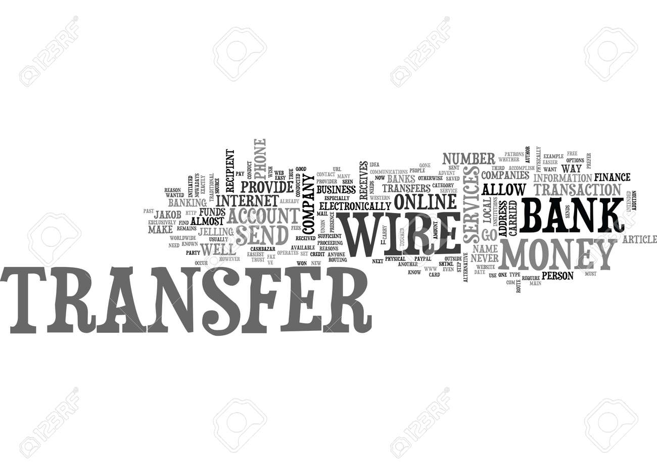 WIRE TRANSFERS THE EASIEST WAY TO SEND MONEY TEXT WORD CLOUD ...