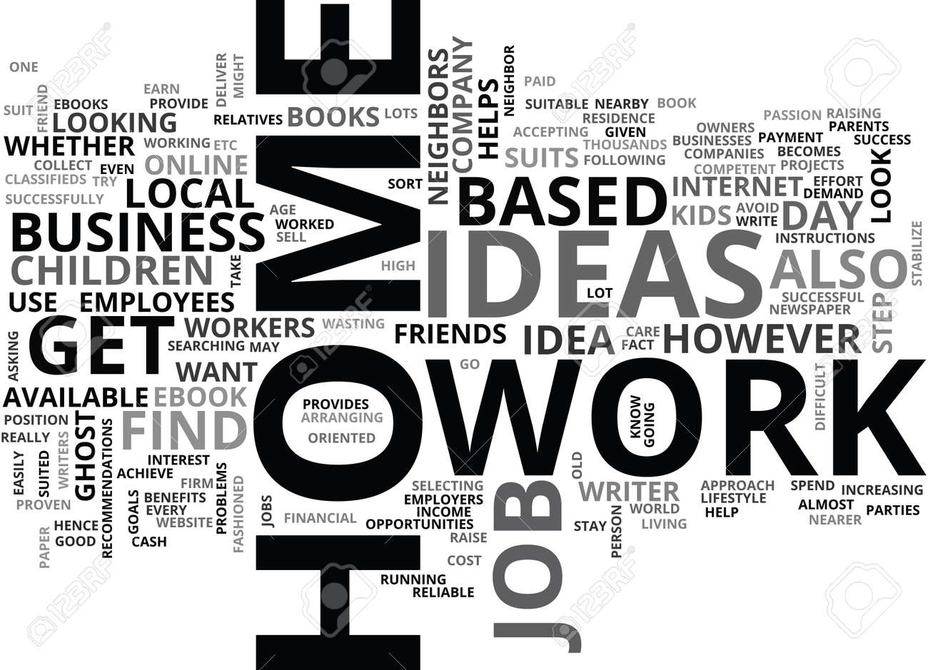 WORK AT HOME IDEAS TEXT WORD CLOUD CONCEPT Royalty Free Cliparts ...
