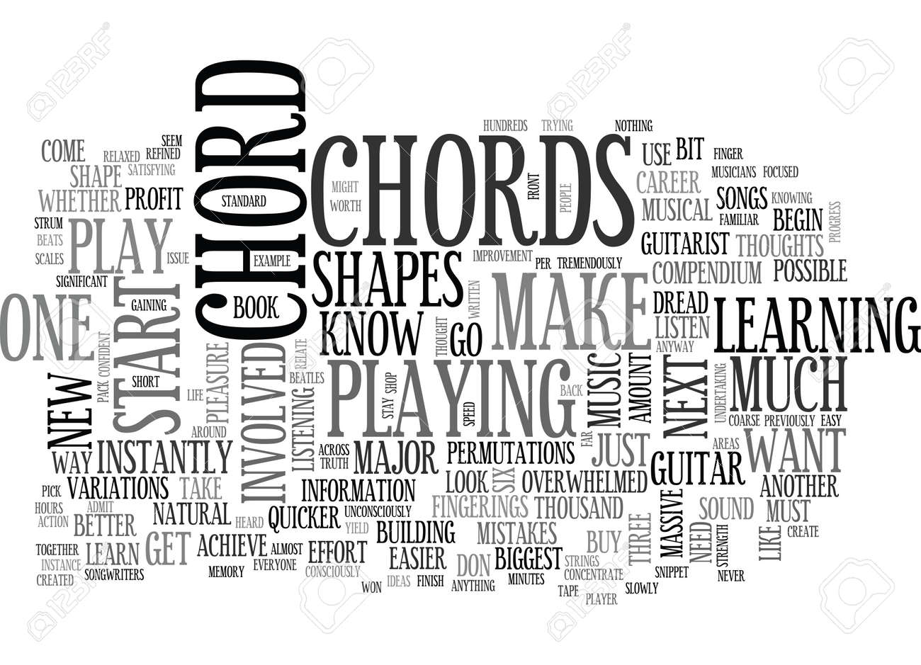 What You Should Know About Beginner Guitar Chords Text Word Cloud