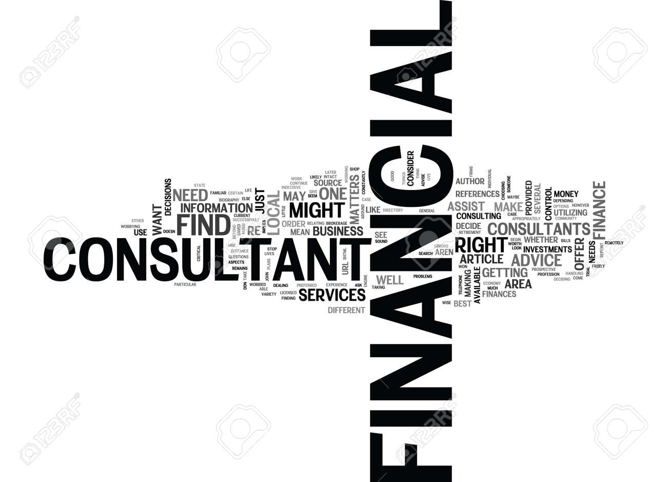 When To Use A Financial Consultant Text Word Cloud Concept Royalty