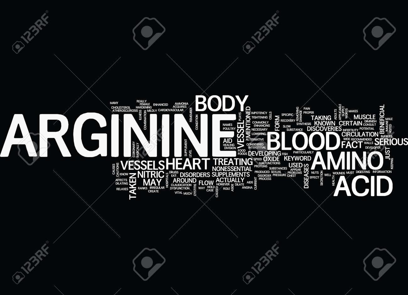 ARGININE Text Background Word Cloud Concept - 82570516
