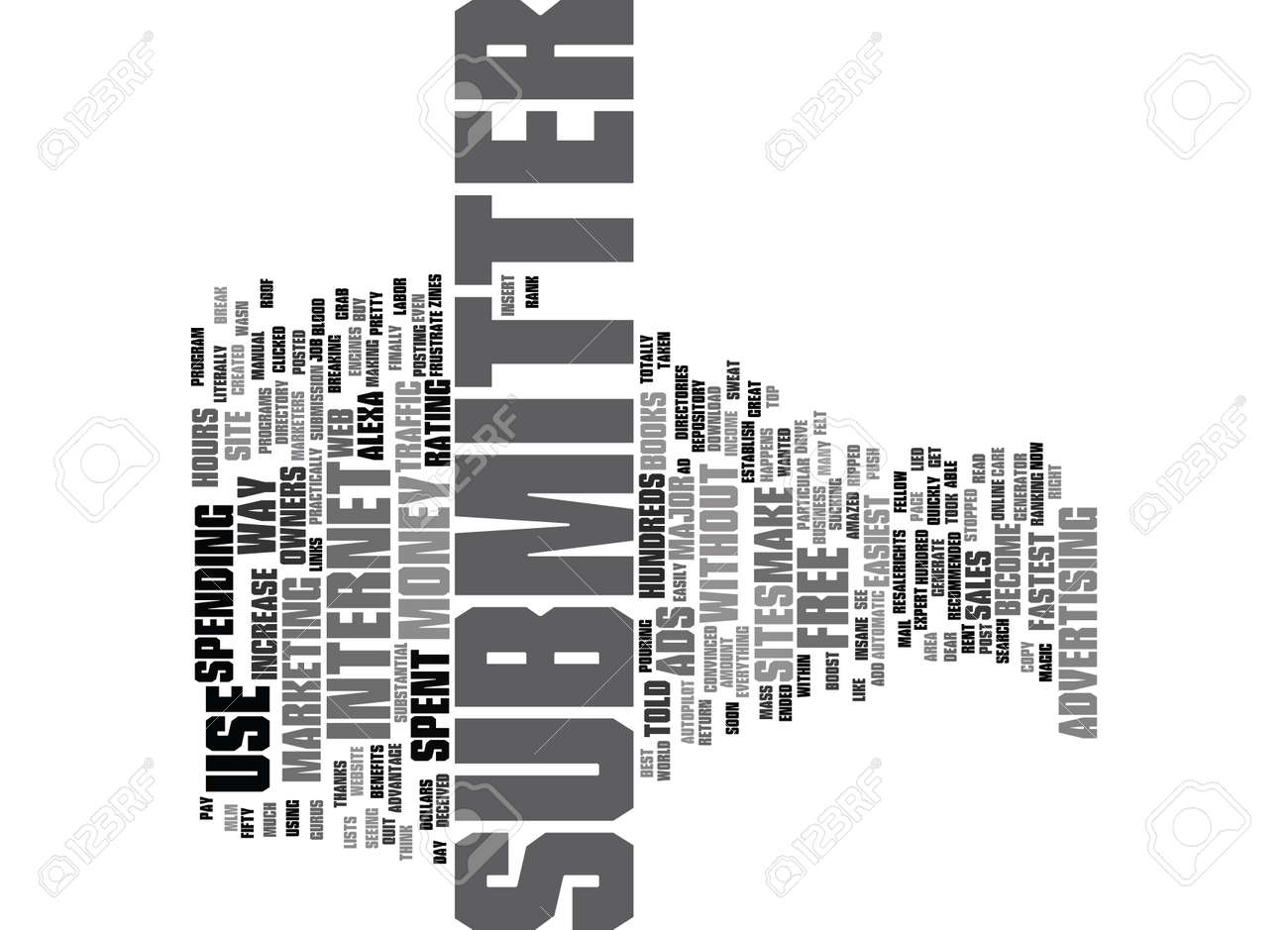 ARTICLE SUBMITTER Text Background Word Cloud Concept