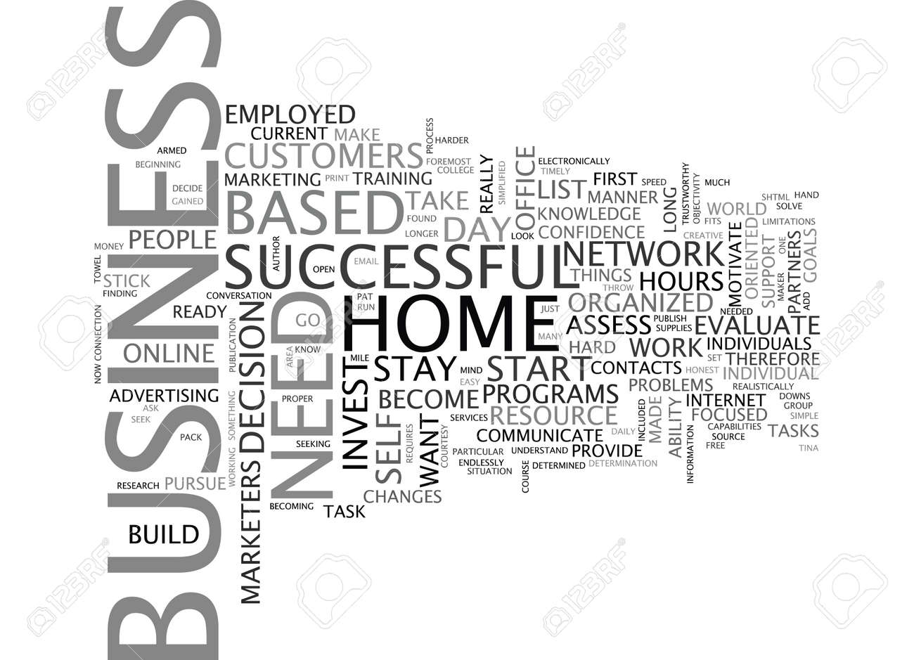 ARE YOU READY TO START A HOME BASED BUSINESS Text Background ...
