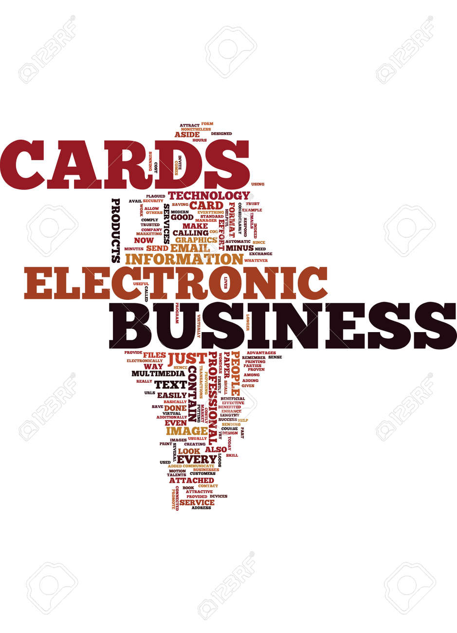 ELECTRONIC BUSINESS CARDS WHAT ARE THEY Text Background Word ...