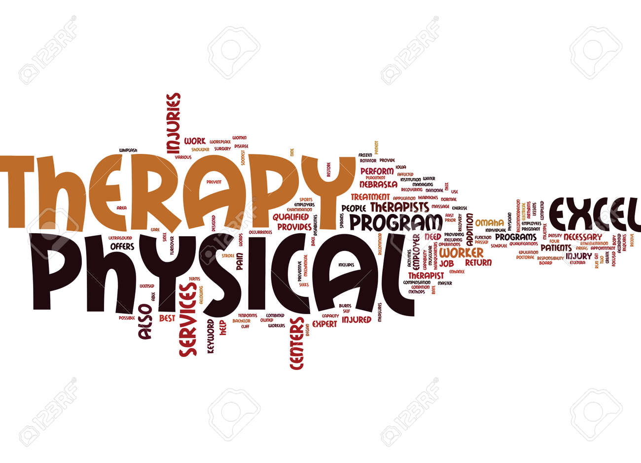 Excel physical therapy - Excel Physical Therapy Text Background Word Cloud Concept Stock Vector 82654082