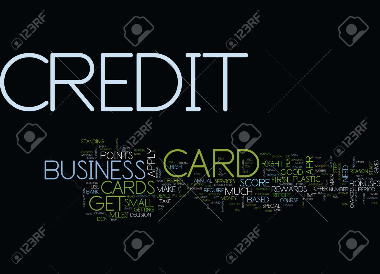 FIRST BUSINESS CREDIT CARD Text Background Word Cloud Concept ...