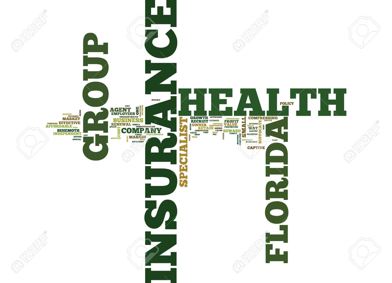 Health Insurance Florida >> Florida Group Health Insurance Text Background Word Cloud Concept