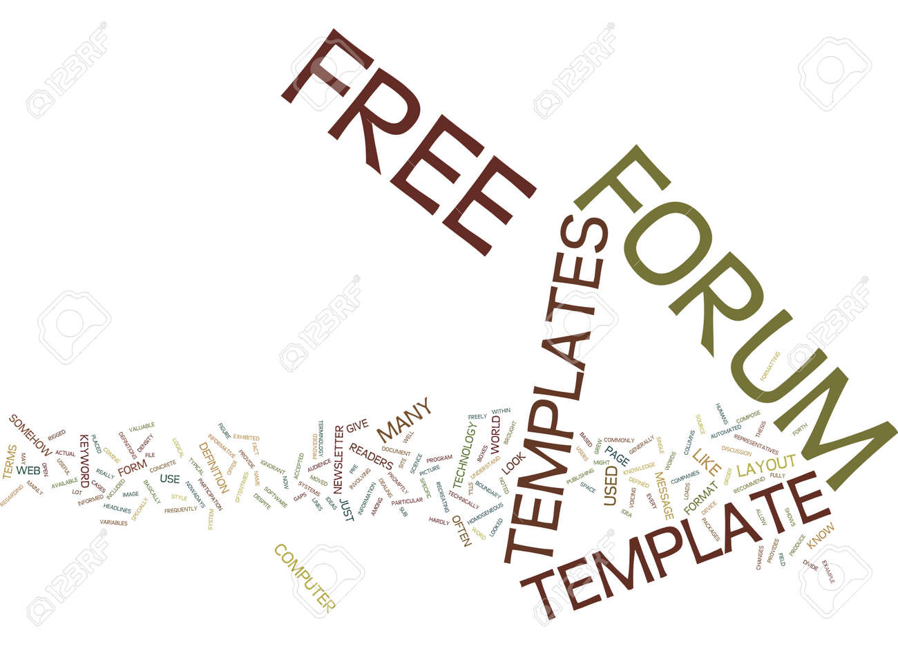 FREE FORUM TEMPLATES Text Background Word Cloud Concept