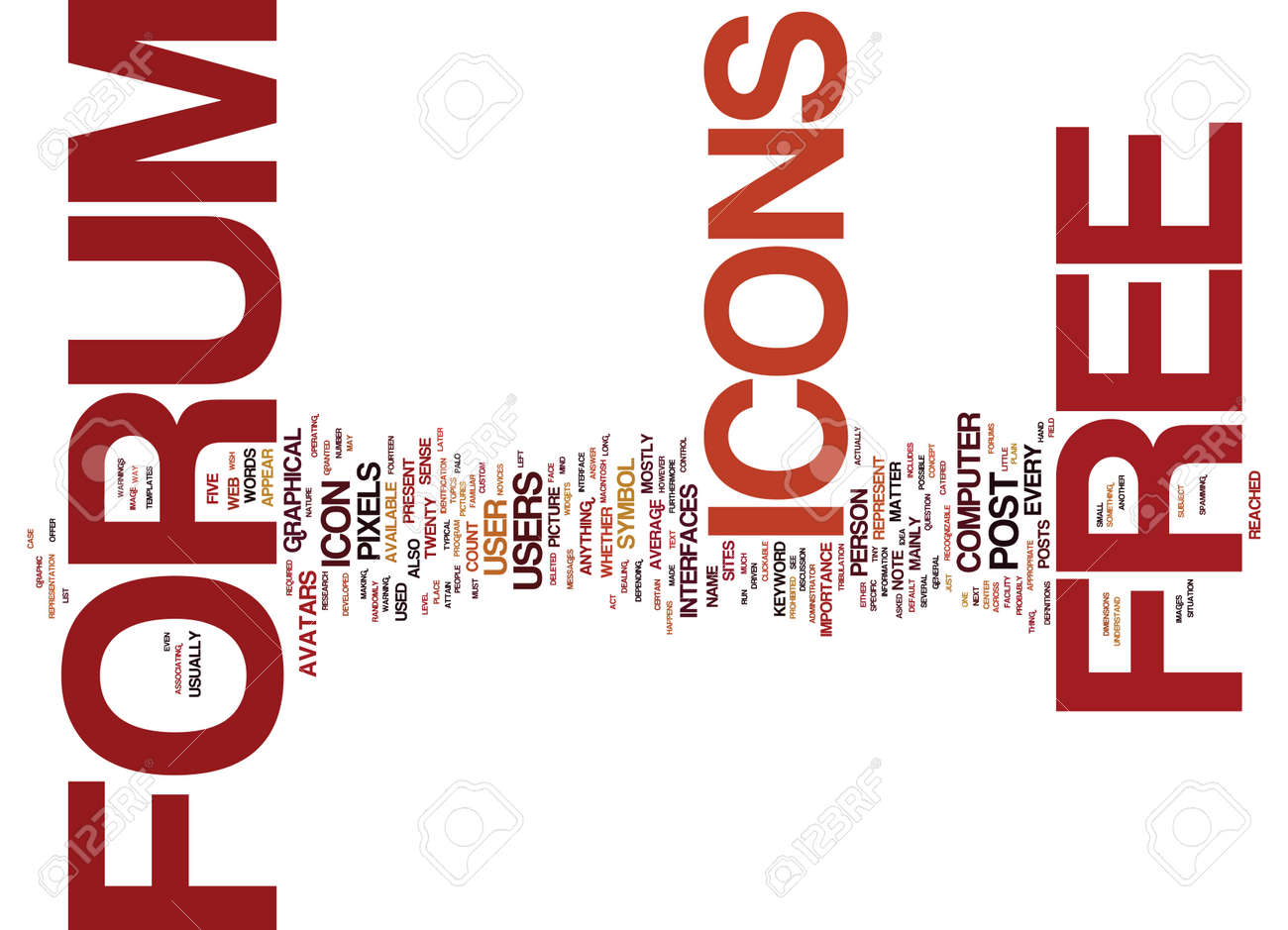 FREE FORUM ICONS Text Background Word Cloud Concept