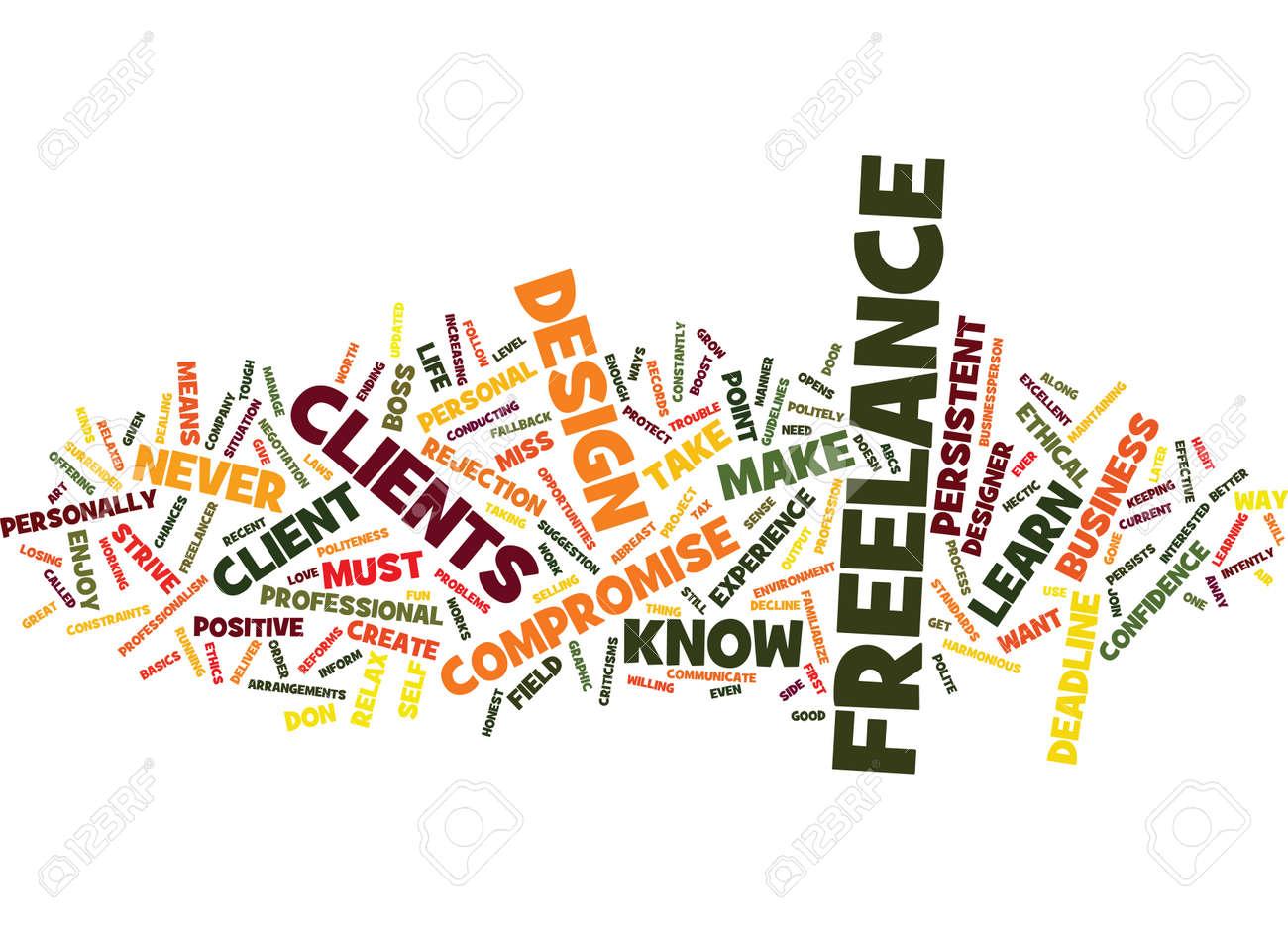 FREELANCE DESIGN Text Background Word Cloud Concept - 82607995