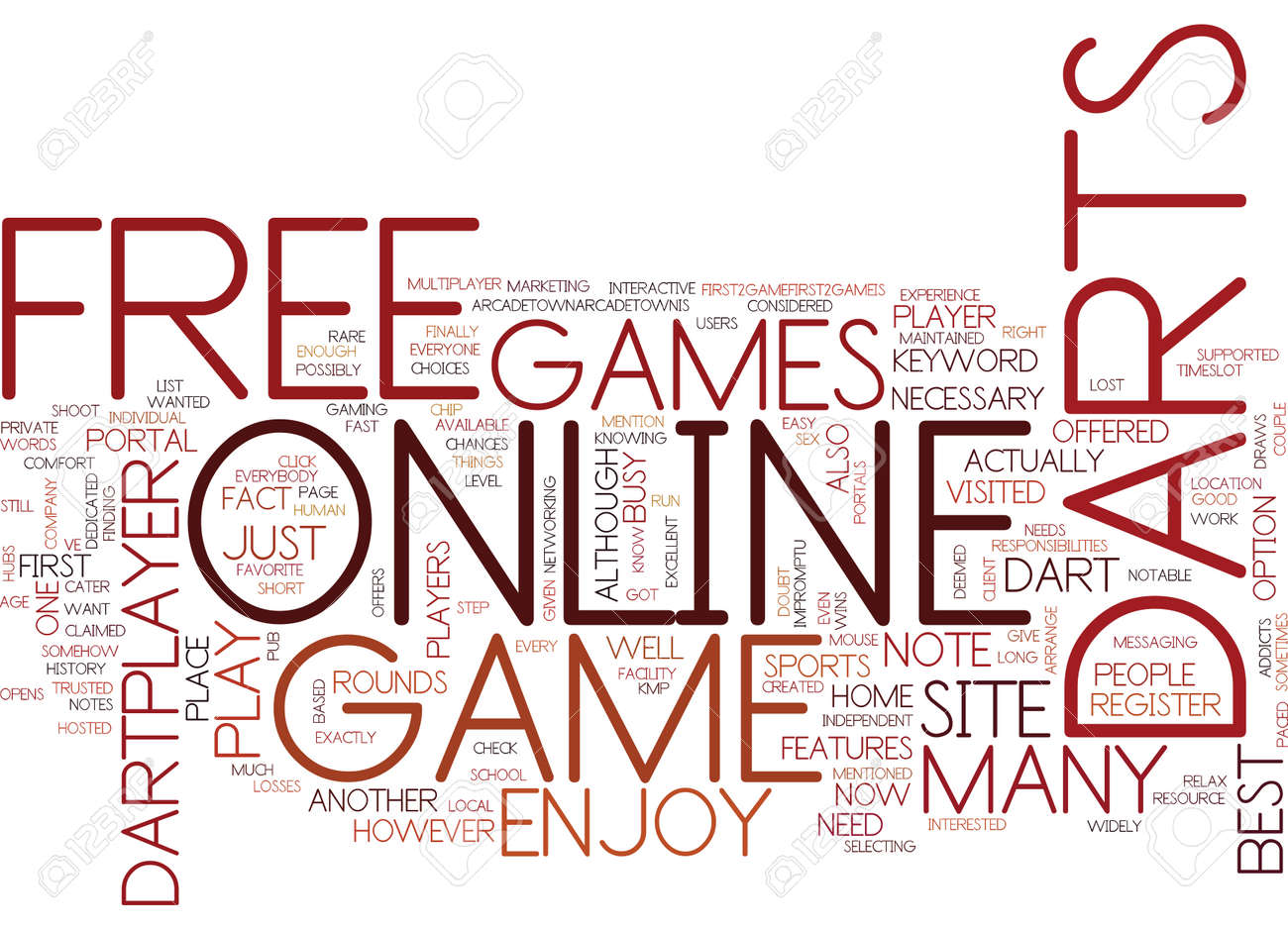 Free Online Darts Game Text Background Word Cloud Concept Royalty