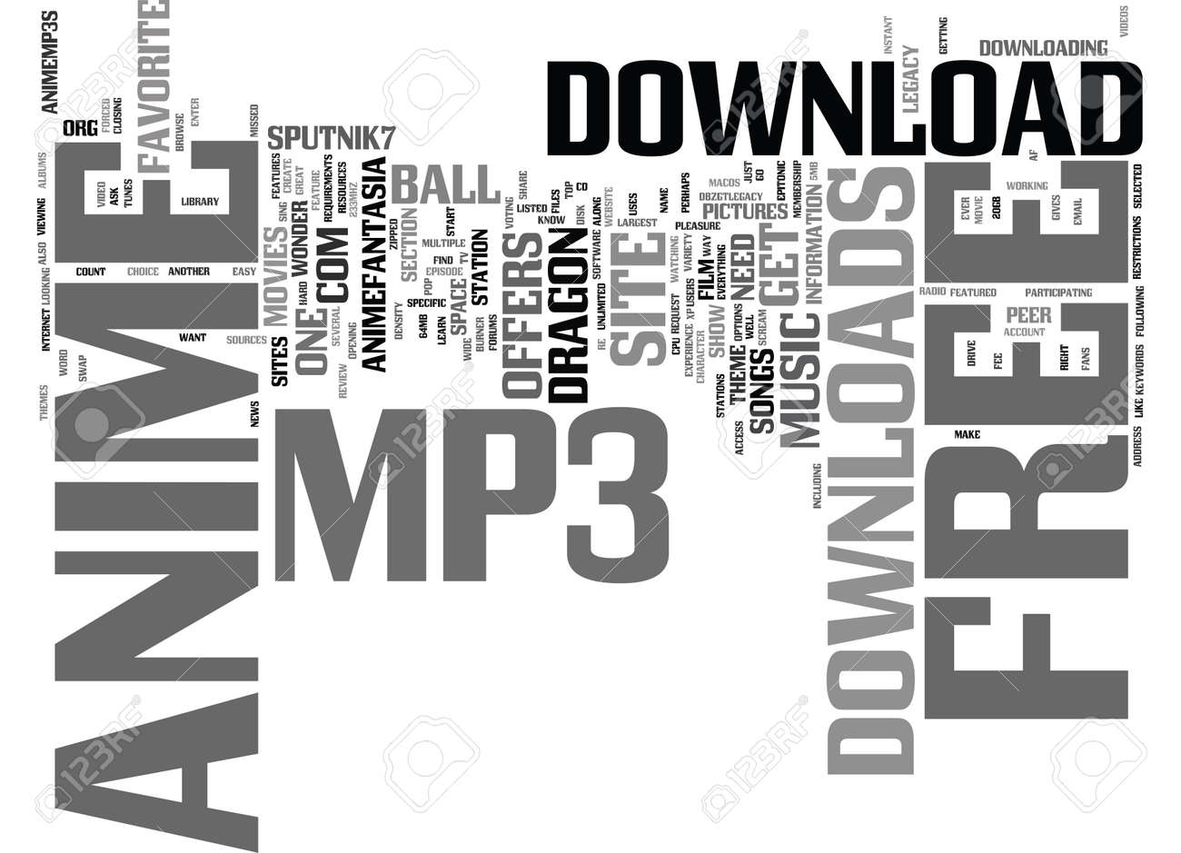 無料アニメ Mp ダウンロード テキスト背景単語雲概念のイラスト素材