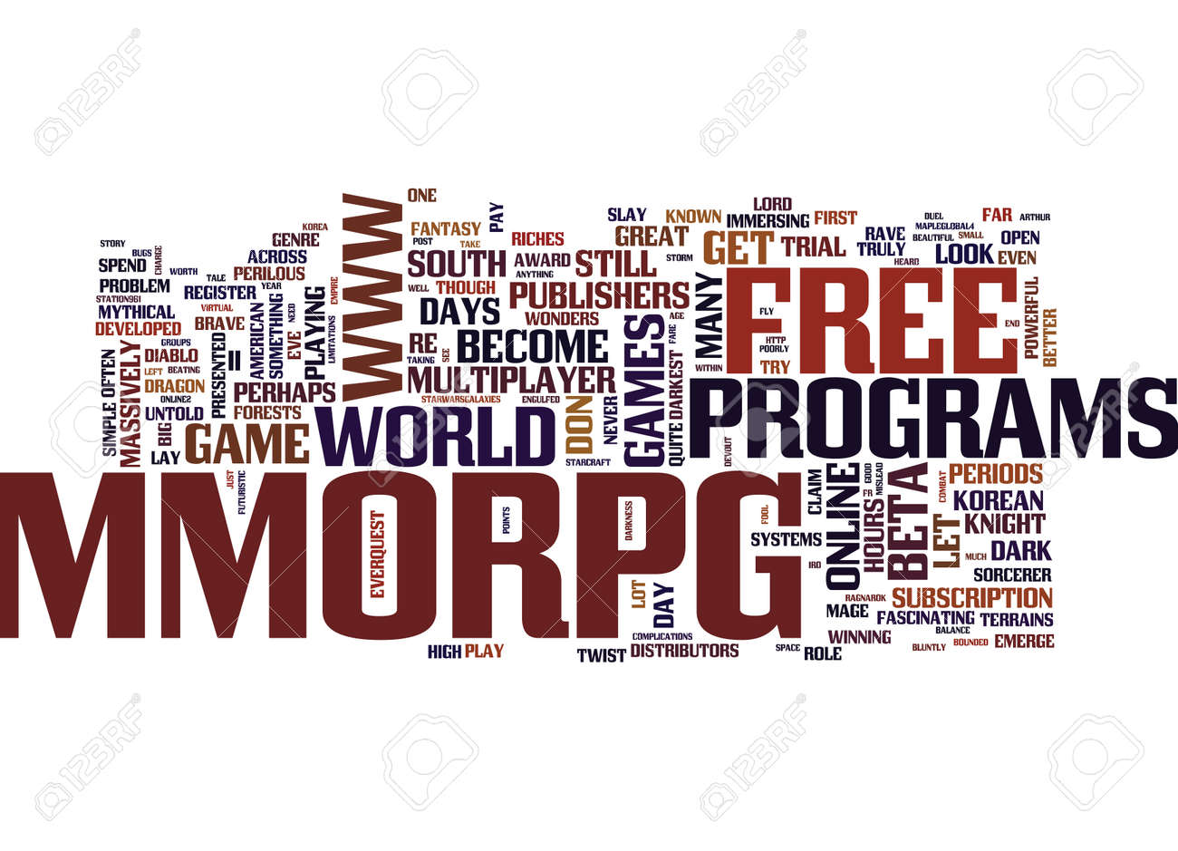 FREE MMORPG APLENTY Text Background Word Cloud Concept - 82573824