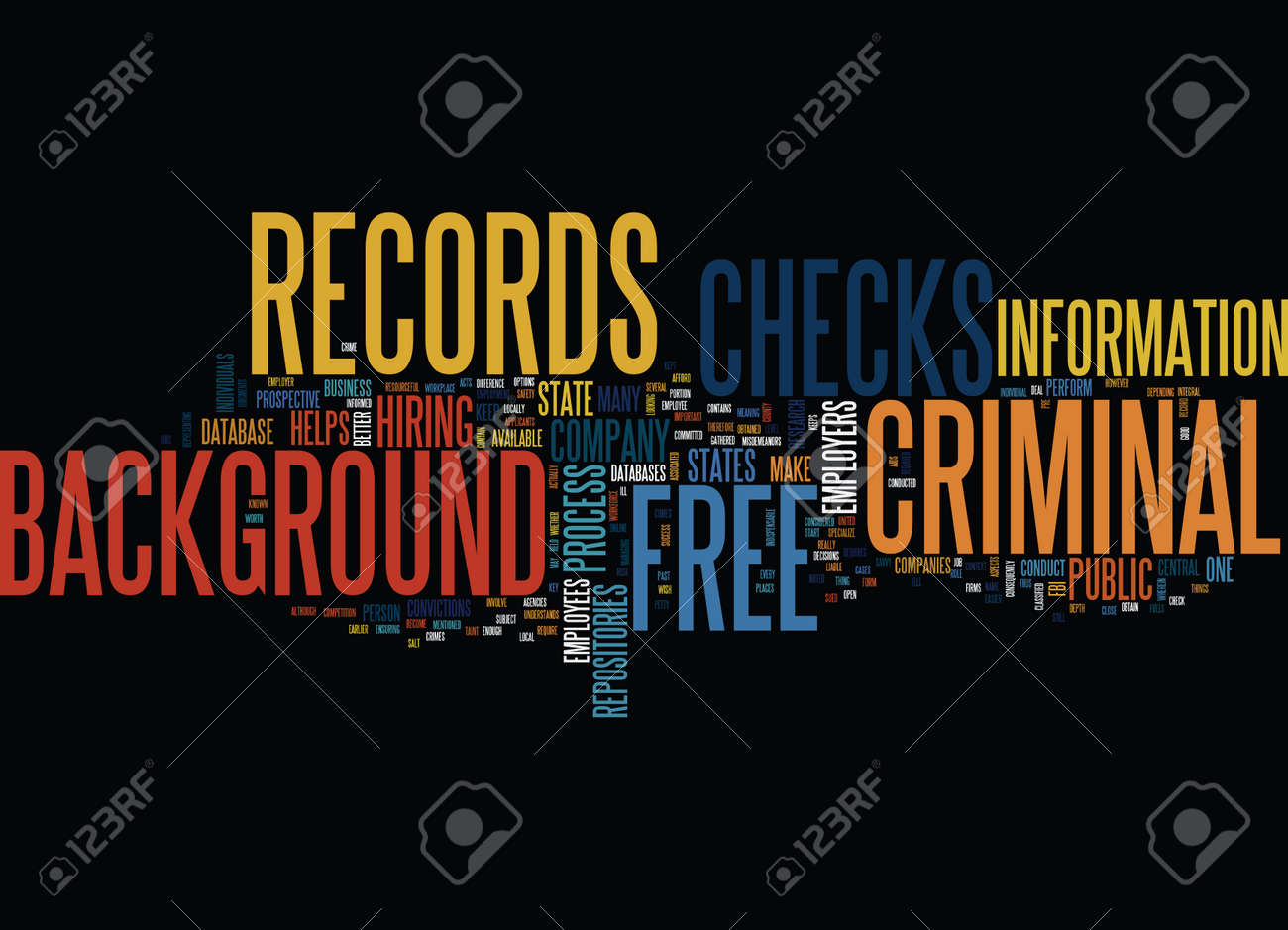 Background Check Free Criminal Record >> Free Criminal Records Background Checks Text Background Word