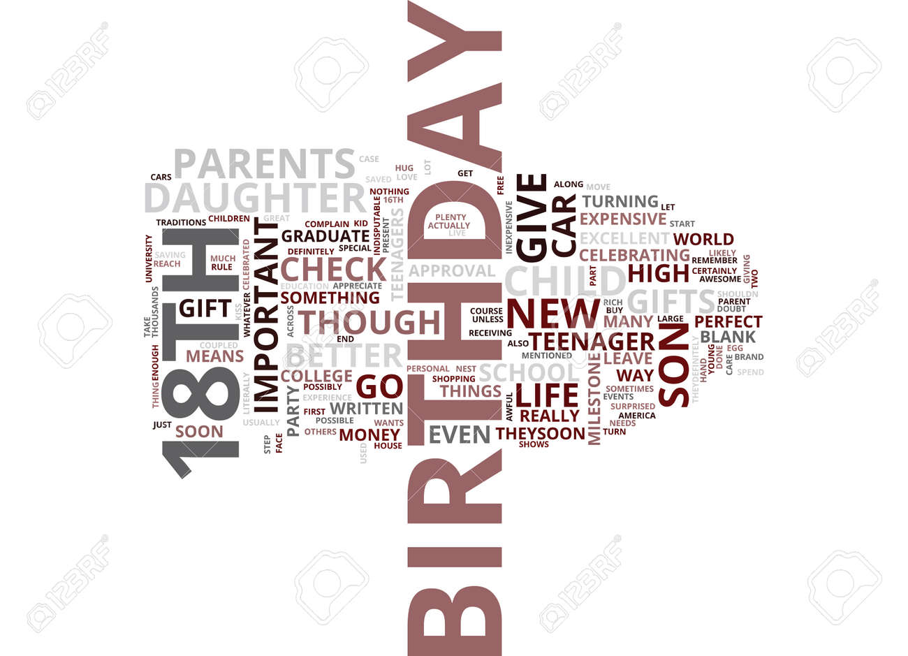 gifts for your teenagers th birthday text background word cloud