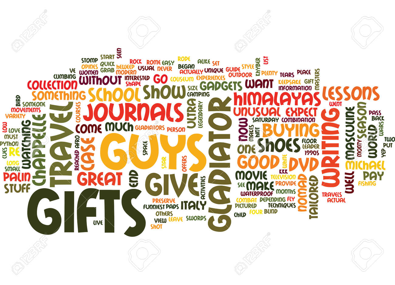 gifts for guys text background word cloud concept royalty free