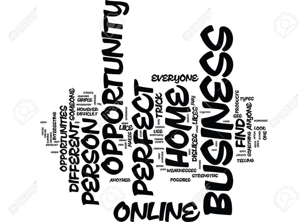 THE PERFECT HOME BUSINESS OPPORTUNITY ONLINE Text Background ...