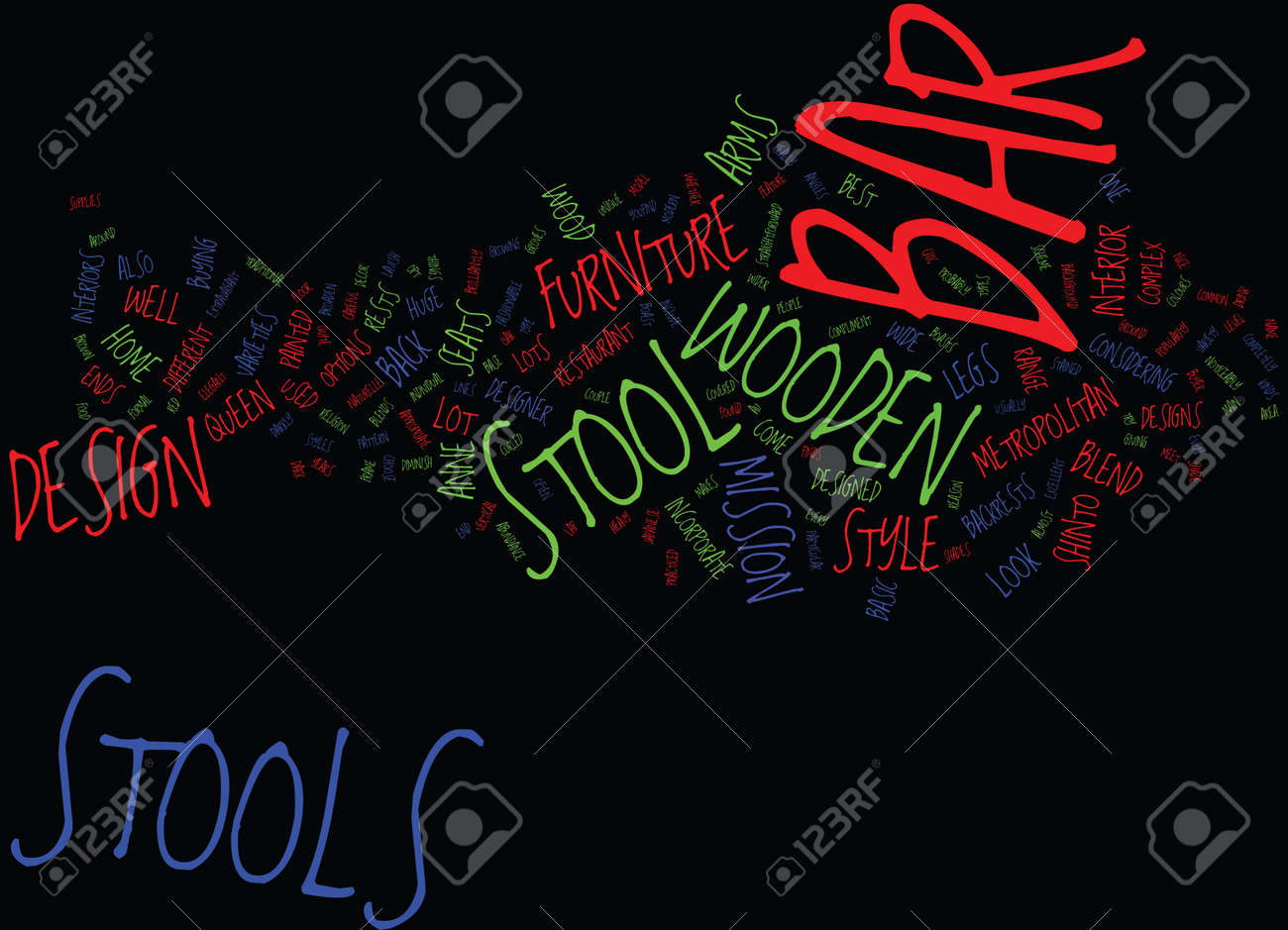 The Elegant Designs Of The Wooden Bar Stool Text Background Word