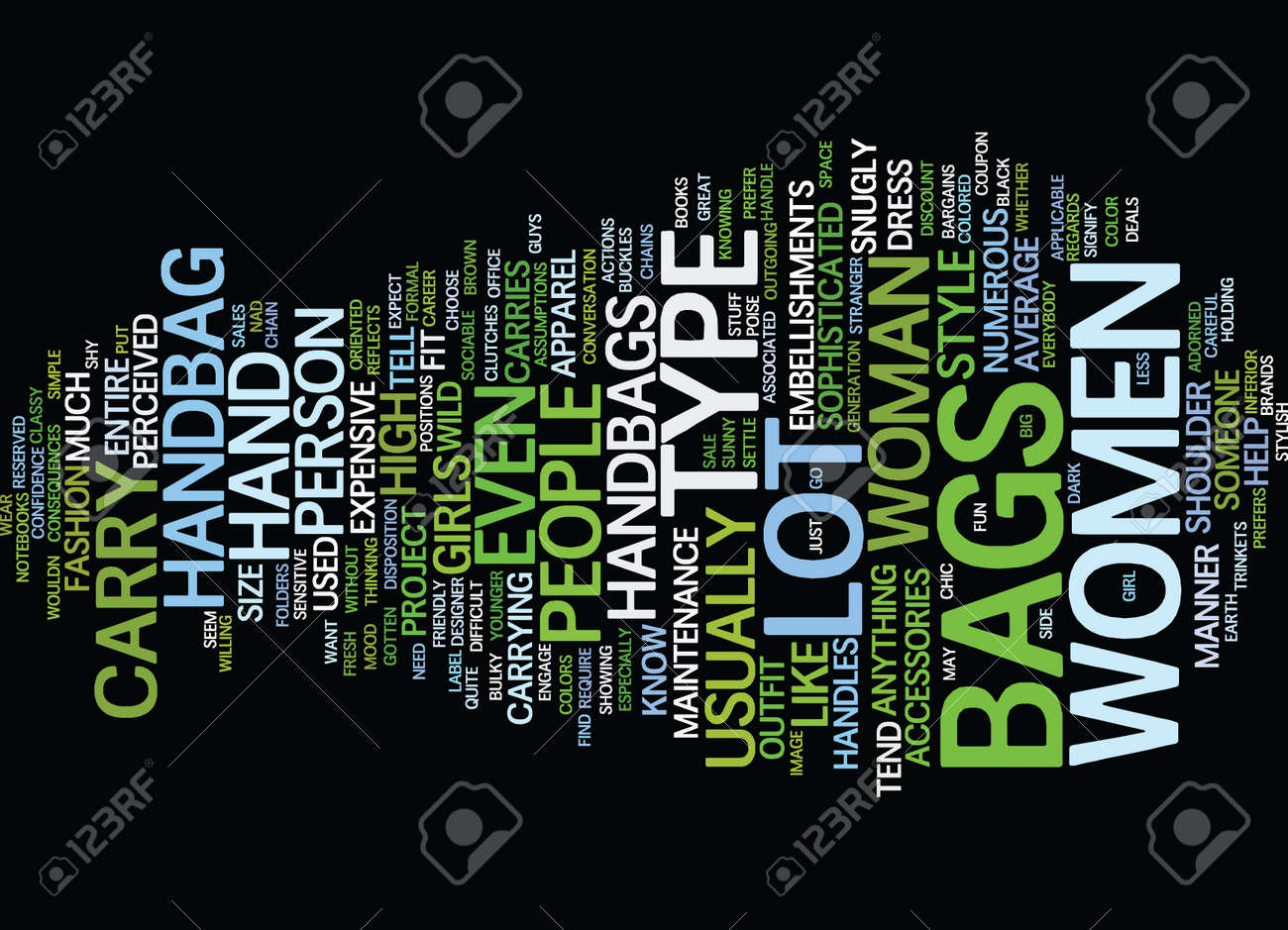 YOUR HANDBAG CAN SAY A LOT ABOUT YOU Text Background Word Cloud ...