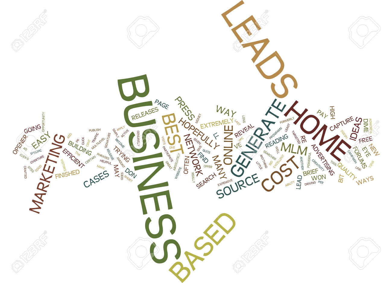 THE BEST HOME BASED BUSINESS LEADS Text Background Word Cloud ...