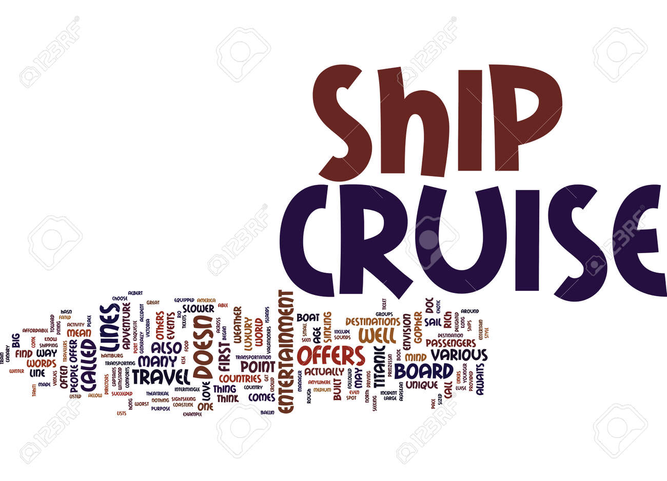 YOUR ADVENTURE AWAITS ON A CRUISE SHIP Text Background Word Cloud - Can you text from a cruise ship