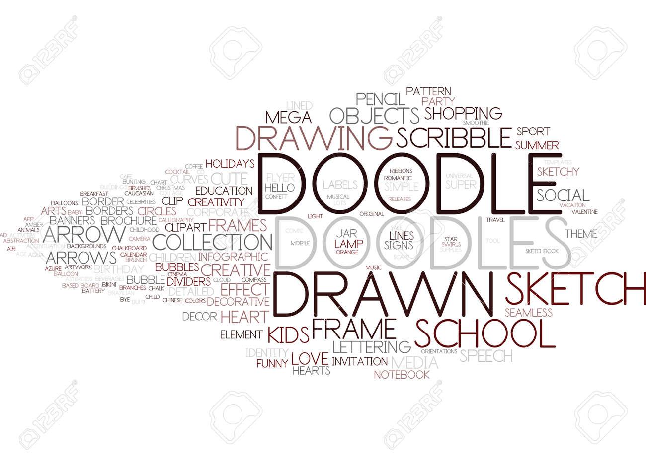 Doodle Word Cloud Concept Stock Vector