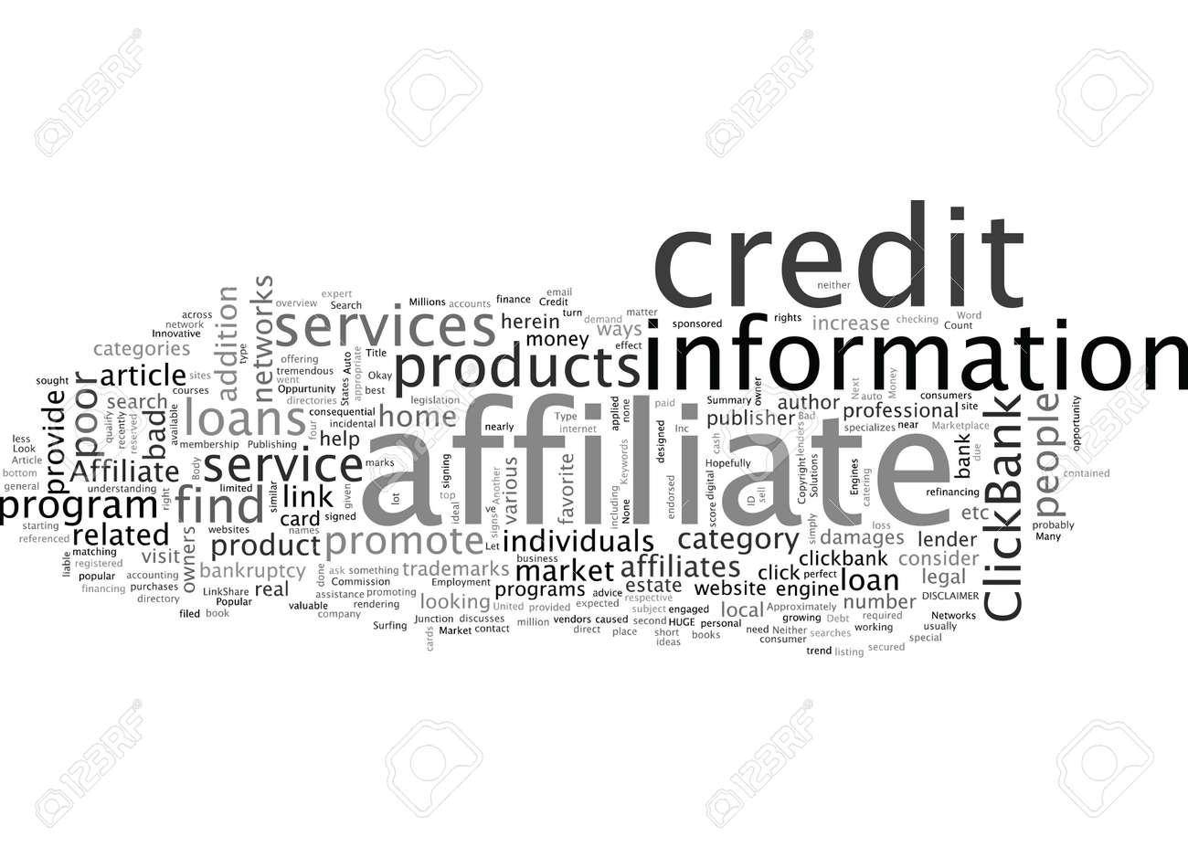 Affiliate Oppurtunity The Bad Credit Market - 132108465