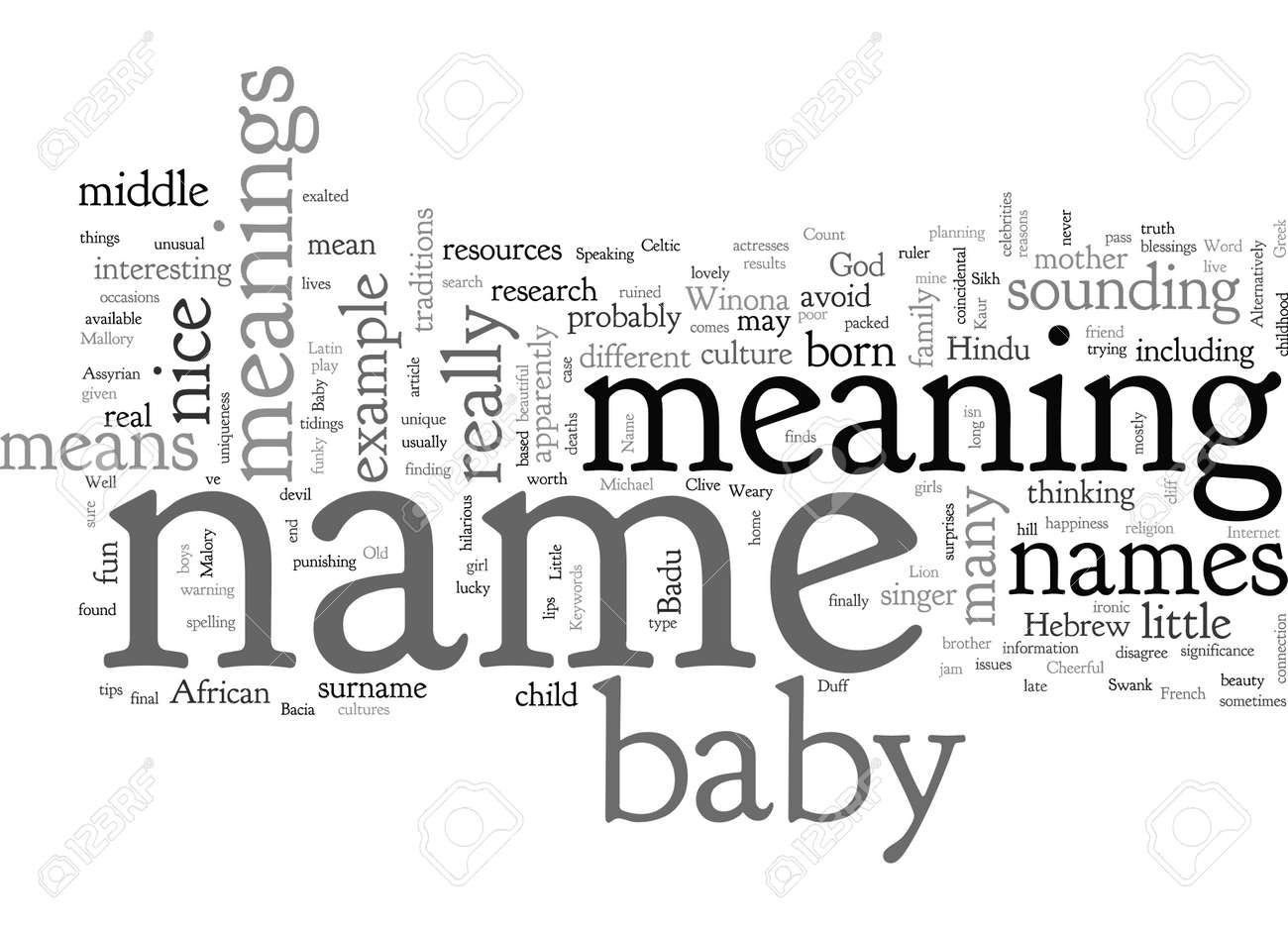 Baby Name Meanings - 132214393