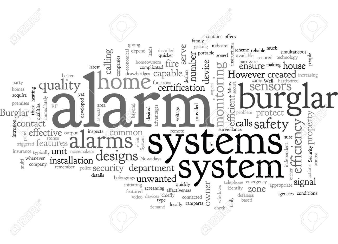 burglar alarm security system - 132215537