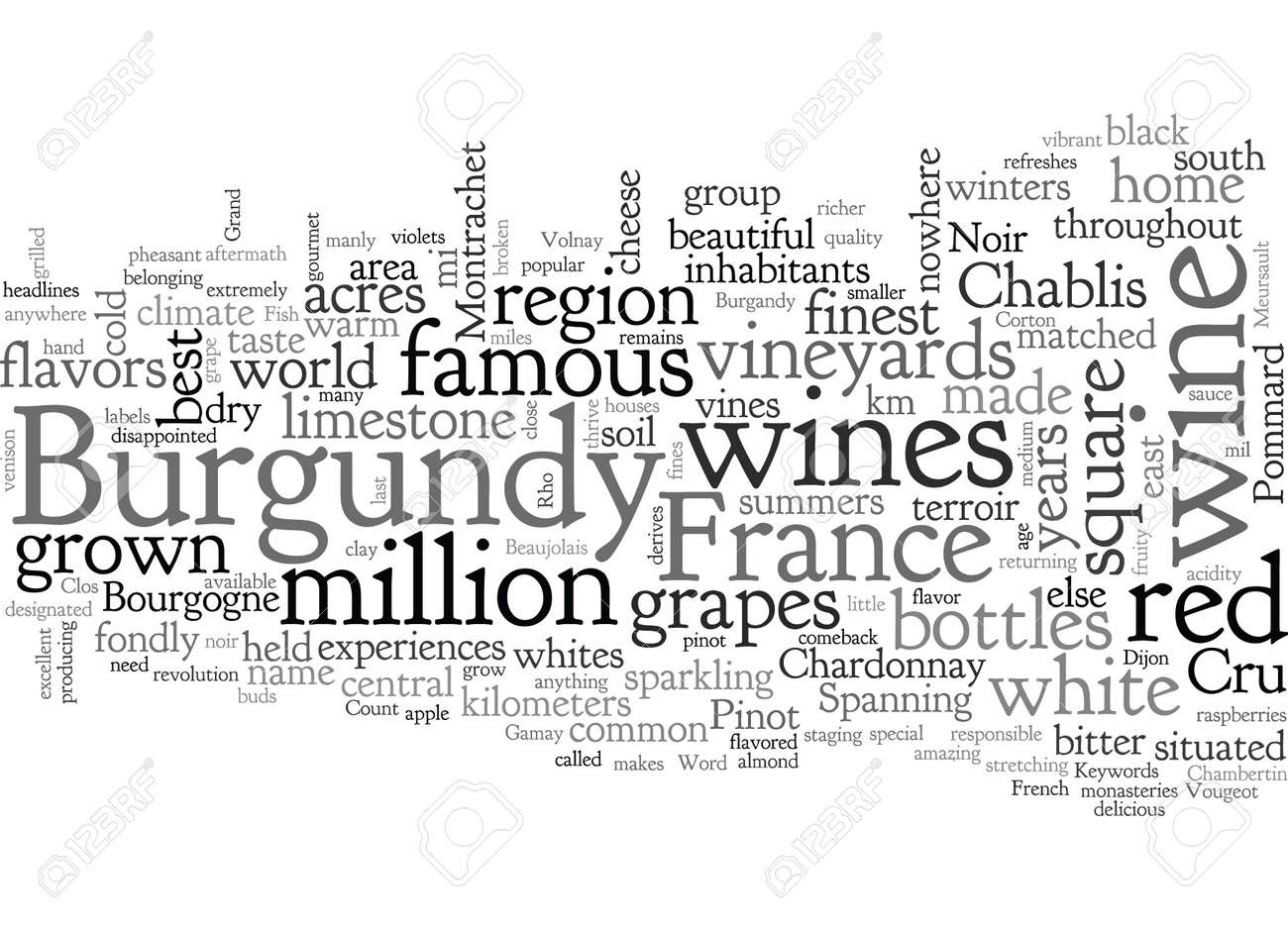 Burgandy France Famous For Its Wines - 132215736
