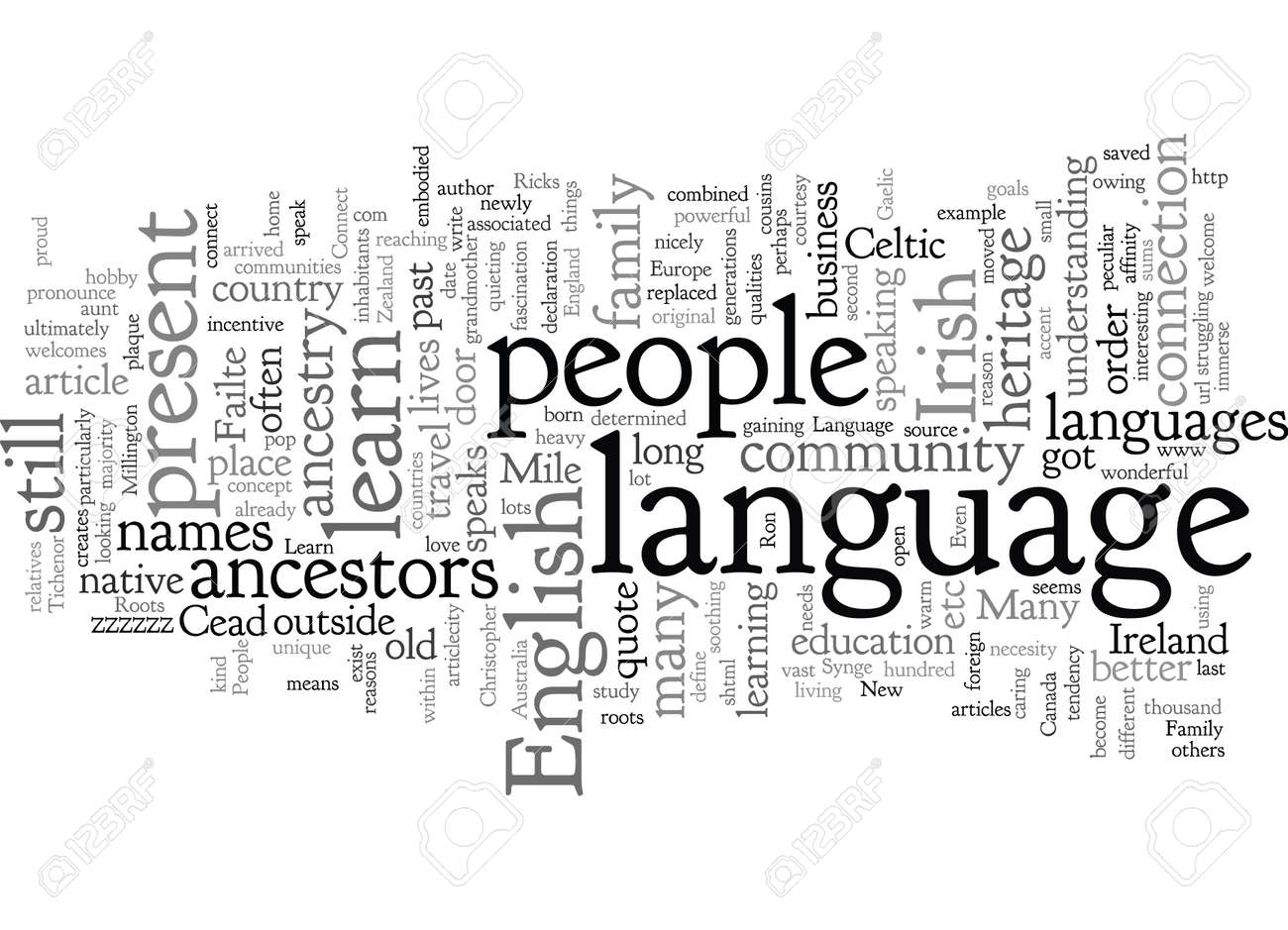 Connect With Your Roots Learn Your Family Language - 132217501