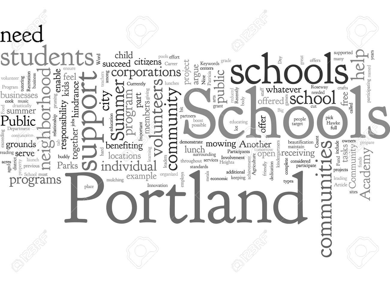 Community Involvement Important For Portland Schools - 132217880