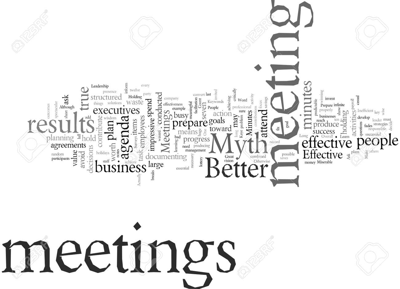 Do These Myths Make Your Meetings Miserable - 132095947