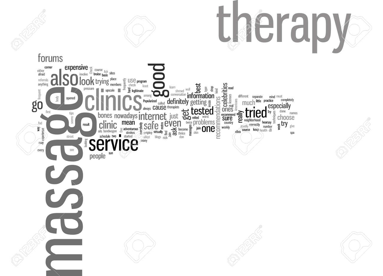 How to look for the best massage therapy clinics - 132371139