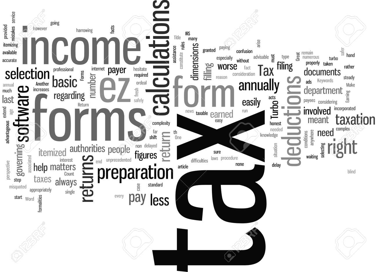 Tax Return Forms - 132390393