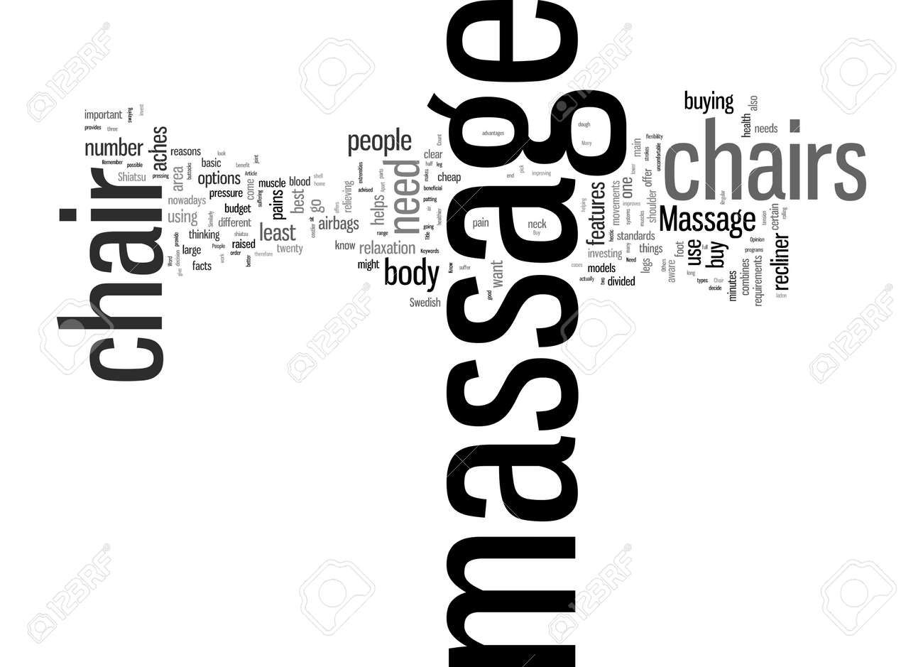 Word Cloud Summary of What You Need To Know Before You Buy A Massage Chair Article - 160186233