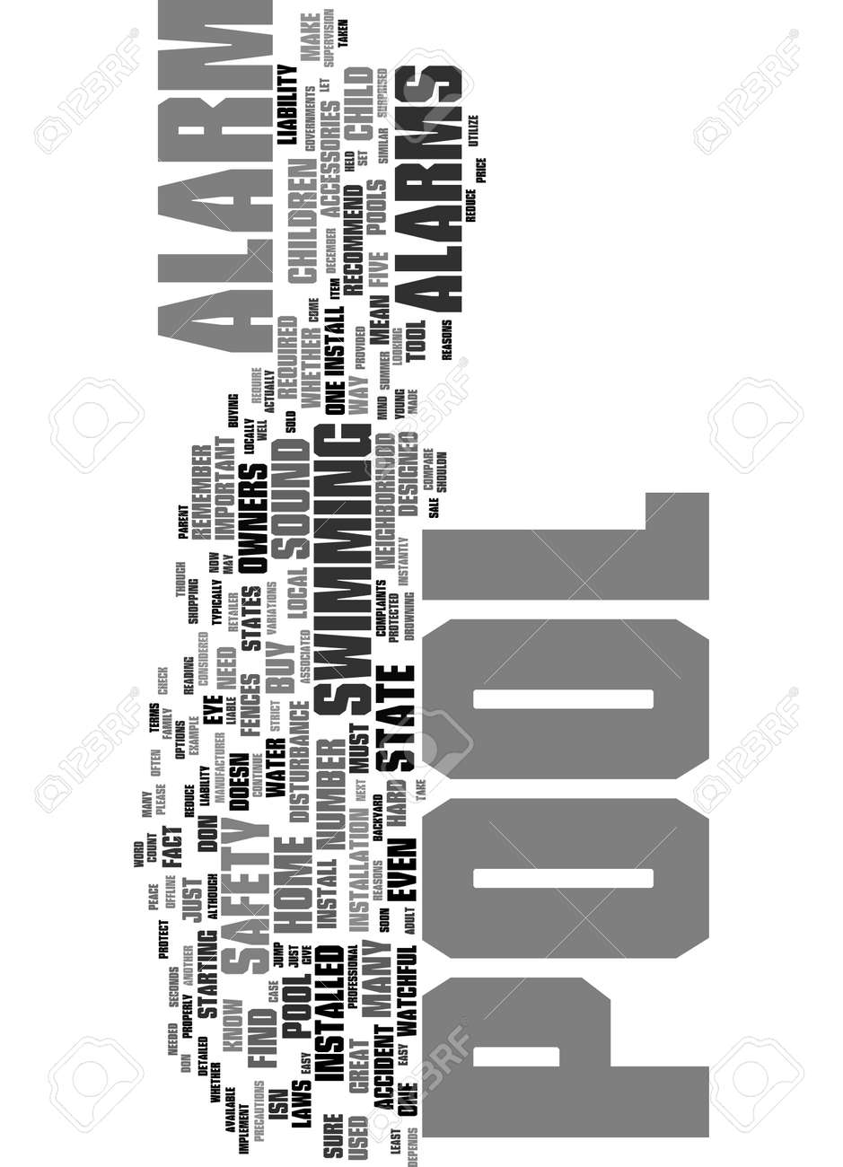 Word Cloud Summary of article 5 Reasons Why You Should Install a Pool Alarm - 160186311