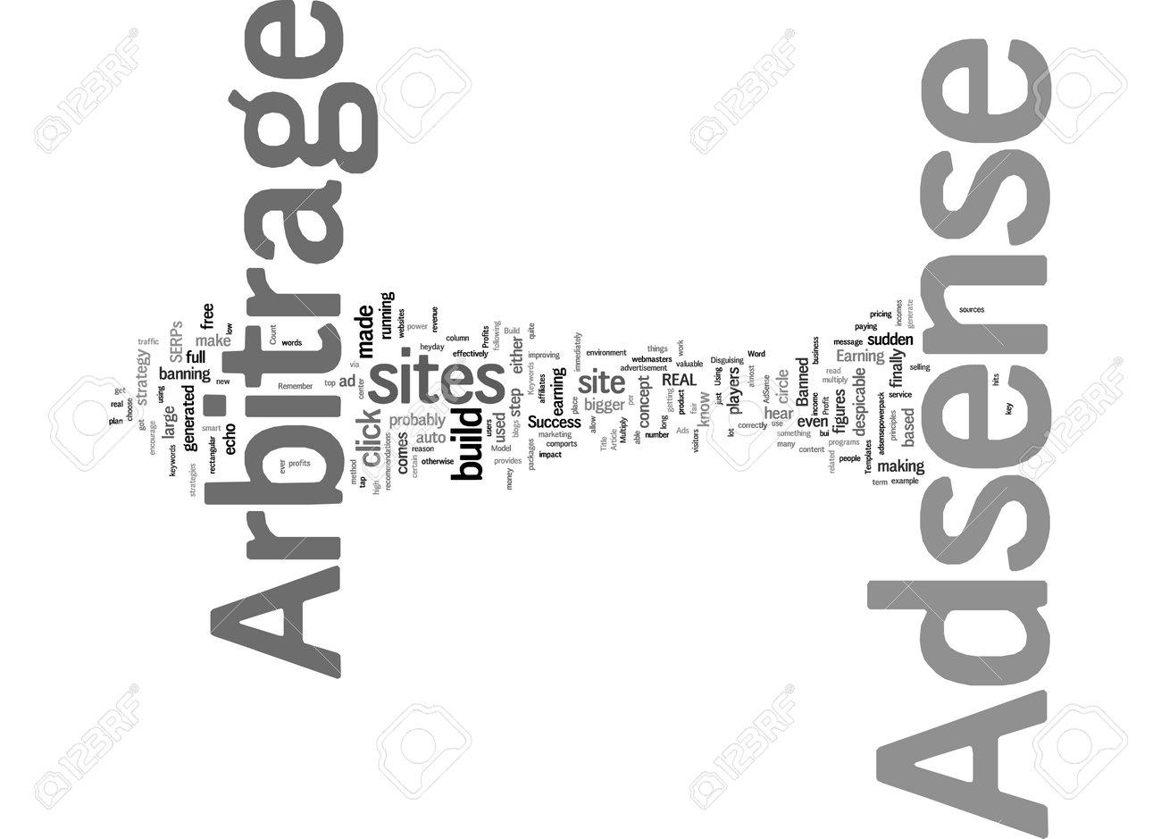 Word Cloud Summary of Profit Adsense Arbitrage Model For Arbitrage Success Article - 160186339