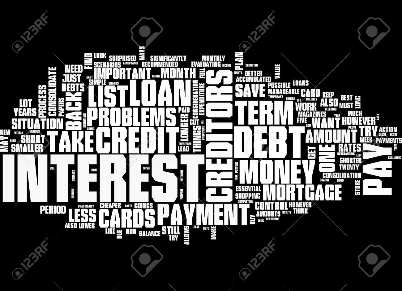 Word Cloud Summary of article Short Term Debt Problems Take Control - 160186342