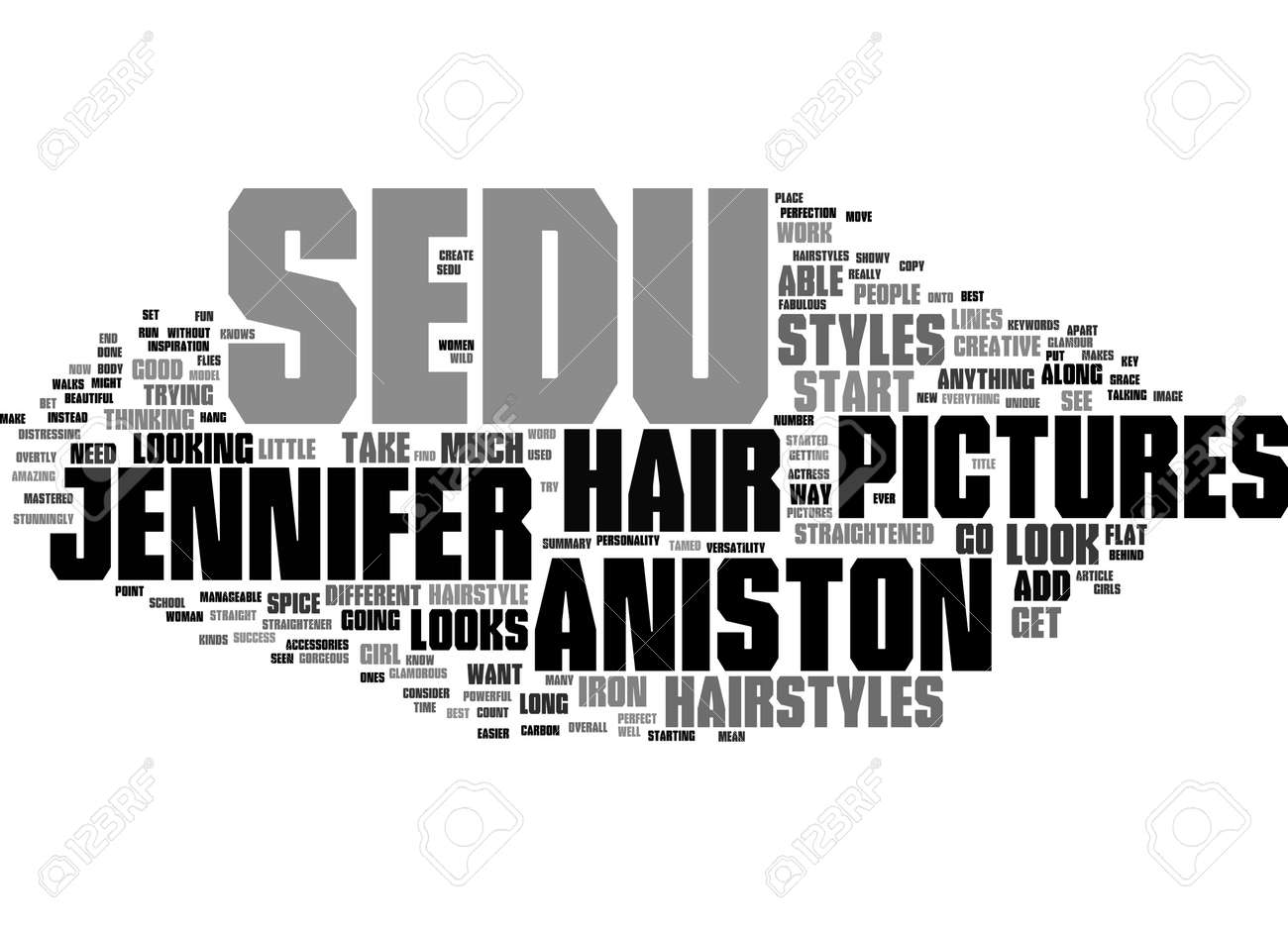 Word Cloud Summary of Jennifer Aniston s Best Sedu Hairstyles Pictures Article - 160186343